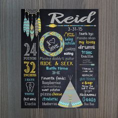 TRIBAL BIRTHDAY SIGN Boys pow wow by MichelleRayeDesigns on Etsy