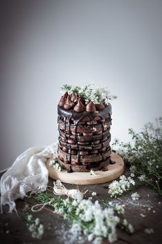 naked layer chocolate cake