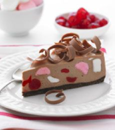 Rocky Road Cheesecake - Luscious and pretty, what more could you want