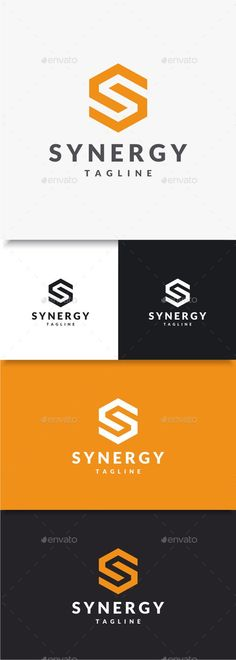 Synergie Buche S Logo Design Template Vector