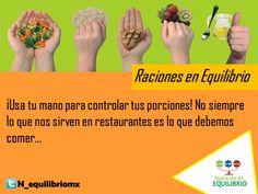 Acostúmbrate a las raciones saludables con la ayuda de tu mano.  #nutricion #dieta #salud