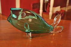 Blenko Handblown Fish with No Breaks or Cracks Tale Is Clear Beautuful | eBay