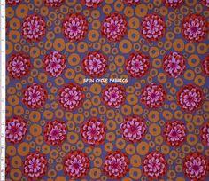 1 Fat Qtr KAFFE FASSETT BUBBLE FLOWER GP97 DUSK Rings Westminster Quilt Fabric