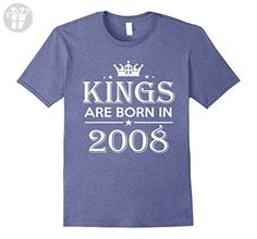 Mens 9th Birthday Gifts Idea For Him/Men-9 Years Old King Shirt 2XL Heather Blue - Birthday shirts (*Amazon Partner-Link)