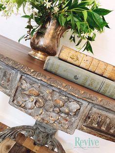 Chalk Paint Projects, Chalk Paint Furniture, Redoing Furniture, Refinished Furniture, Diy Furniture, Faux Painting, Diy Painting, Amy Howard Paint, Half Moon Table