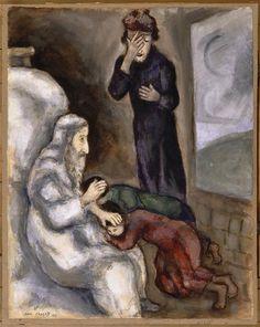 Chagall, Pintor De Sonhos...  Benção De Efraim E Manasseh, 1931 ~ Marc Chagall