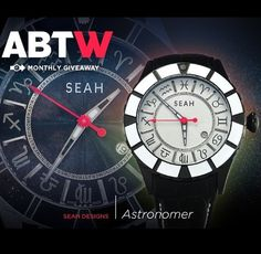 Enter the giveaway on A Blog To Watch for a chance to win the Astronomer Watch by SEAH *  http://www.ablogtowatch.com/watch-giveaway-seah-astronomer/