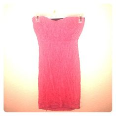 Pink dress **SALE*** A small form fitted sexy dress above the knee and very comfy. misope Dresses Strapless