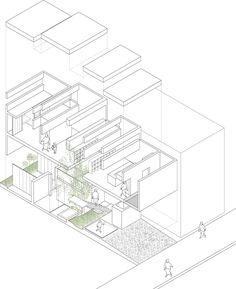 15 best images architectural drawings architecture Interior Design Styles dezeen machi house by uid architects axo 1 1000 gif 1 000 1 225 pixels axonometric