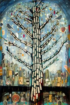 """""""Arbol con Luces 1"""" by Judy Paul 