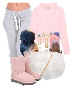 """Night on the Boardwalk"" by melaninprincess-16 ❤ liked on Polyvore featuring Vetements, Forever 21 and UGG Australia"