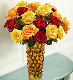 Autumn Rose Bouquet, 18 Stems