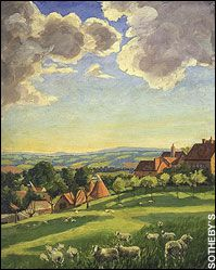 Landscape with Sheep by Winston Churchill ...beautiful
