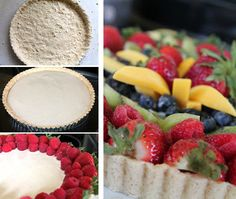 A vegan easter fruit tart with cashew vanilla pastry cream