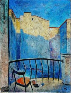 """Nikolay Bogomolov — """"Jazz mood """", oil on canvas, 80*60cm, 2004 / Saint Petersburg, Russia"""