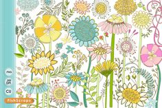 Wild Flowers ClipArt - Summer Floral by FishScraps on Creative Market