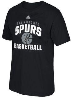 San Antonio Spurs Adidas Black Rep Big T Shirt $21.95