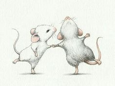 Maus Illustration, Illustration Mignonne, Ballet Illustration, Cute Animal Illustration, Animal Illustrations, Animal Drawings, Art Drawings, Pencil Drawings, Art Mignon