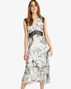 c58e78526f3 Phase Eight Esther Lace Trim Dress Multi Wedding Guest Style