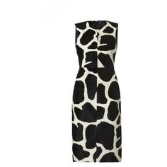 Burberry Animal Print Dress ❤ liked on Polyvore