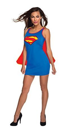 Rubie's Costume Co Women's DC Superheroes Supergirl Dress with Cape