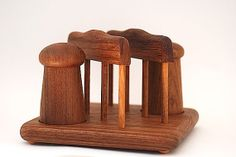 Teak Wooden Salt And Pepper Picnic Table Caddy With Napkin Holder, Rustic Wooden…