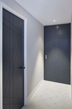 Search for our thousands of Interior Wood Doors available in a variety of designs, styles, and finishes. Modern Wooden Doors, Wooden Door Design, Main Door Design, Wood Doors, Black Interior Doors, Door Design Interior, Home Room Design, House Design, Bathroom Lighting Design