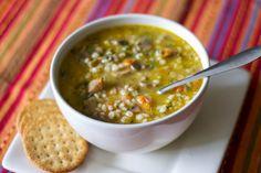 zuppa cereali legumi funghi