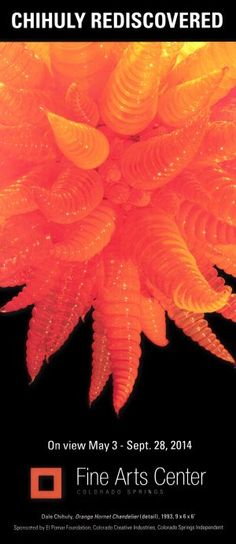 Chihuly Red - on view at Colorado Springs Fine Arts Center May 3 - Sept. Colorado Springs, Stuff To Do, Things To Do, Fine Arts Center, Brochure Online, Visit Colorado, Transportation Services, Dale Chihuly, Brochures