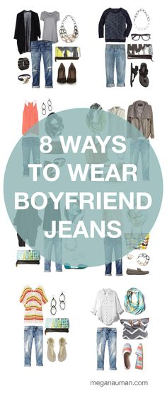 I just bought a pair of boyfriend jeans, no I can learn how to wear them. boyfriend jeans outfit inspiration // 8 ways to style your boyfriend jeans by megan auman Jean Outfits, Fall Outfits, Casual Outfits, Cute Outfits, I Love Fashion, Passion For Fashion, Autumn Fashion, Womens Fashion, 90s Fashion