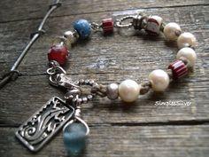 Artisan Jewelry Statement Bracelet African di SimpleeSilver