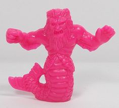 Monster In My Pocket - Series 1 - 10 Triton - Neon Pink - Magenta - Premium Monster S, My Pocket, Classic Toys, Mythical Creatures, Lion Sculpture, Neon, Statue, Pink, Vintage