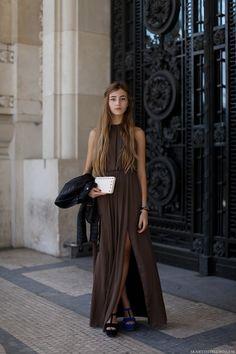 choco long dress