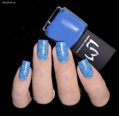 LMcosmetic - Vernis Stamping 7 Bleu Azur