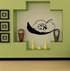 WALL STICKER DECALS ART MURAL ANIMAL LADY BUG T395