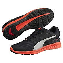 <p>The PUMA IGNITE is our most responsive running shoe ever, and is worn by Usain Bolt, the world's fastest man. It features our proprietary IGNITE Foam for cushioning and exceptional responsiveness to help make you faster. Our unique PU foam formula offers high rebound and ultimate comfort where you need it the most, and ForEverFoam is integrated in the heel to provide durability for long-lasting performance. This new evolution is updated with a brand new breathable, flexible ...