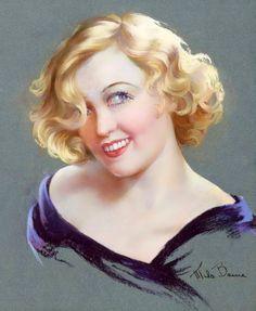 Mila Baine - Portrait Of Marion Davies, Magazine Cover Great Photos, Old Photos, Marion Davies, Vintage Beauty, Retro, Illustrators, Pin Up, Aurora Sleeping Beauty, Stars
