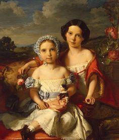 De Gronckel - Portrait of Two Children, 1849