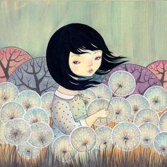 dandelion girl Dilkabear