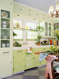 really like the two color cabinets