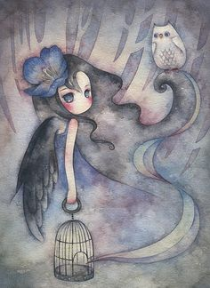 girl and owl by Juriu would make a nice tattoo