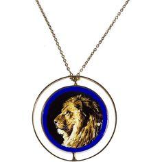 351e42ca0 Antonio Dei Rossi Murrine Lion Pendant ($7,990) ❤ liked on Polyvore  featuring jewelry,