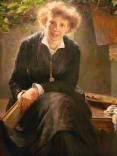 Amazing Bertha Wegmann Portrait of the artist Johanna Bauck