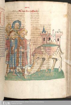 189 [93r] - Ms. Carm. 1 (Ausst. 47) - Das Buch der Natur - Page - Mittelalterliche Handschriften - Digitale Sammlungen Hagenau, [um 1440]