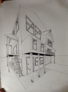 Architecture Drawing Lessons how to draw a 3d house | arts & crafts | pinterest | 3d, vanishing
