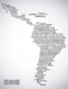 Letra de Latinoamerica - Calle13  Himno de Latinoamerica Song Lyrics Rock, Letras Tattoo, Ap Spanish, Arte Popular, Symbolic Tattoos, Spanish Language, Unique Home Decor, New Day, Tatoos