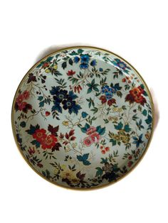 Daher Decorated Ware Tray Made In England Prepossessing Vintage Daher Decorated Ware Serving Tray Floral Tin Tray Made Inspiration Design