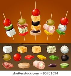 Skewer Appetizers Wedding Appetizers Appetisers Appetizer Recipes Dessert Recipes First Finger Foods Breakfast Crepes Fingerfood Food Design Party Finger Foods, Snacks Für Party, Finger Food Appetizers, Holiday Appetizers, Appetizer Recipes, Toothpick Appetizers, Party Party, Party Ideas, Party Food Platters