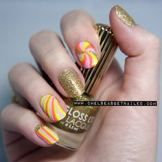 """getnail-d:    """"Psychedelic Nails""""  I'm officially obsessed with Floss Gloss.  Check out my blog post here for all the colors I used!"""