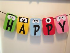 "Yo Gabba Gabba ""HAPPY BIRTHDAY"" Party Photo Op Banner. $18.00, via Etsy."